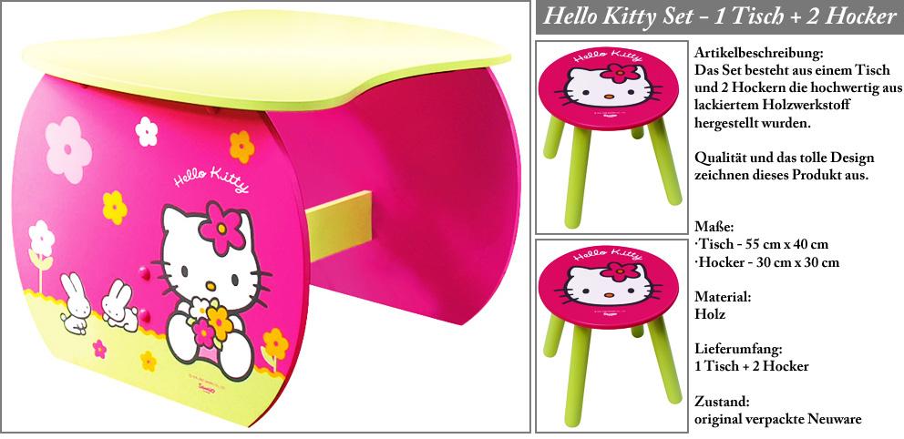 hello kitty m bel kinderm bel set 1 tisch 2 hocker