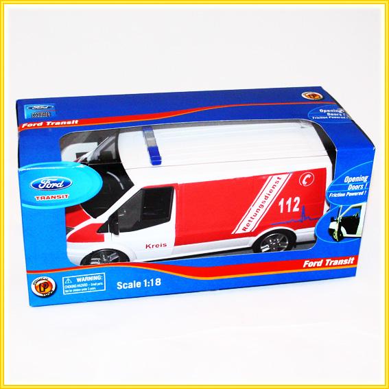 ford transit krankenwagen ma stab 1 18 modellauto lizenzartikel. Black Bedroom Furniture Sets. Home Design Ideas
