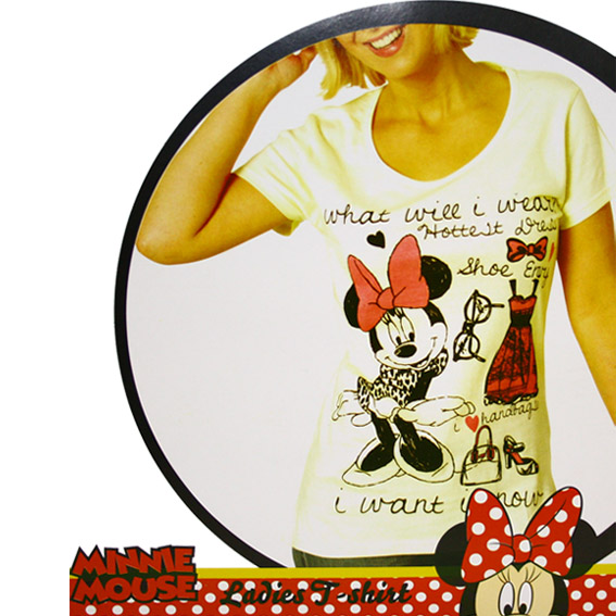 micky maus t shirt damen damen t shirt minnie mouse. Black Bedroom Furniture Sets. Home Design Ideas