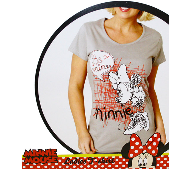 damen t shirt minnie mouse mickey mouse micky maus disney m dchen t. Black Bedroom Furniture Sets. Home Design Ideas