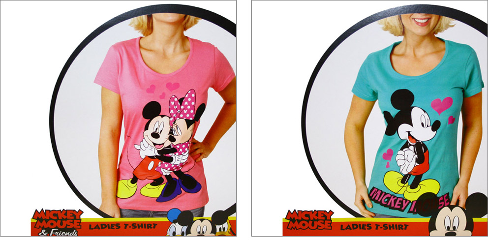 damen t shirt minnie mouse mickey mouse micky maus. Black Bedroom Furniture Sets. Home Design Ideas