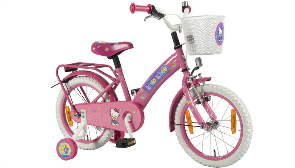 hello kitty fahrrad 16 zoll kinderfahrrad kinder ab 4. Black Bedroom Furniture Sets. Home Design Ideas
