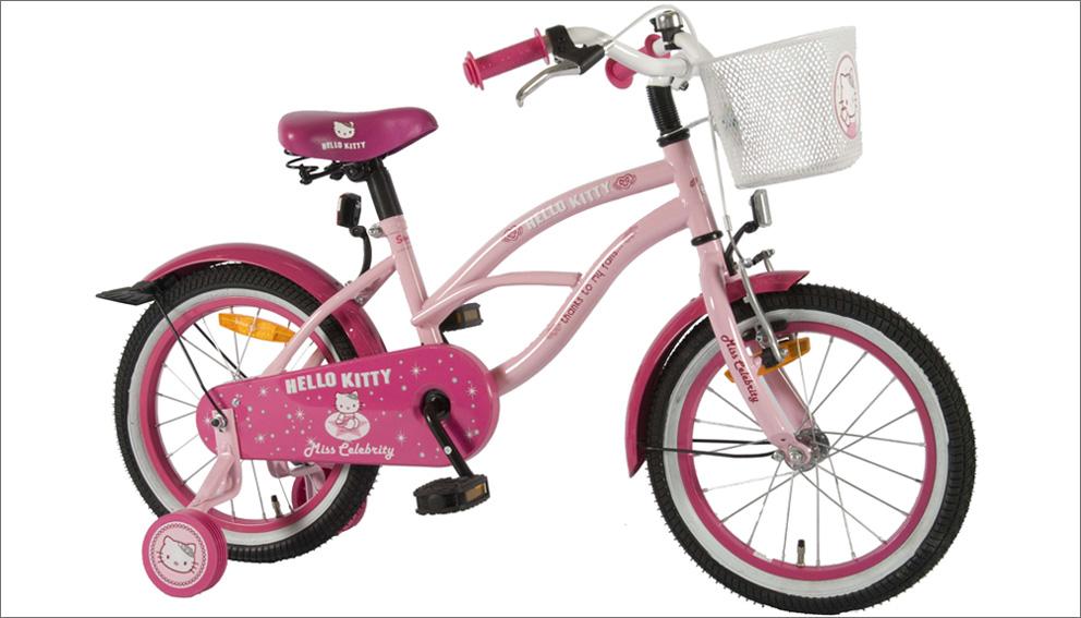 hello kitty fahrrad 16 zoll kinderfahrrad kinder ab 4. Black Bedroom Furniture Sets. Home Design Ideas