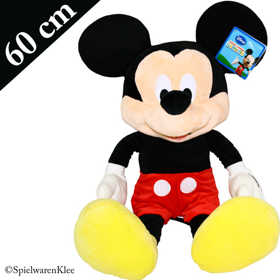 mickey mouse pl sch 60 cm kuscheltier pl schtier stofftier. Black Bedroom Furniture Sets. Home Design Ideas
