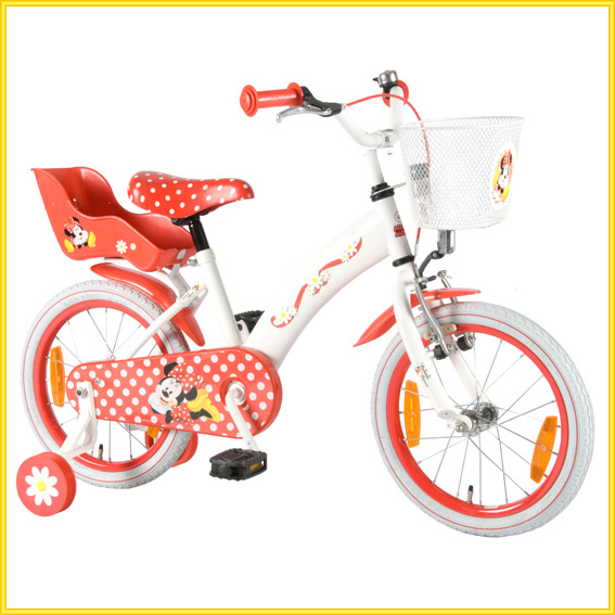 minnie mouse kinderfahrrad 16 zoll kinder fahrrad 4 6 jahre lizenzfahrrad disney ebay. Black Bedroom Furniture Sets. Home Design Ideas