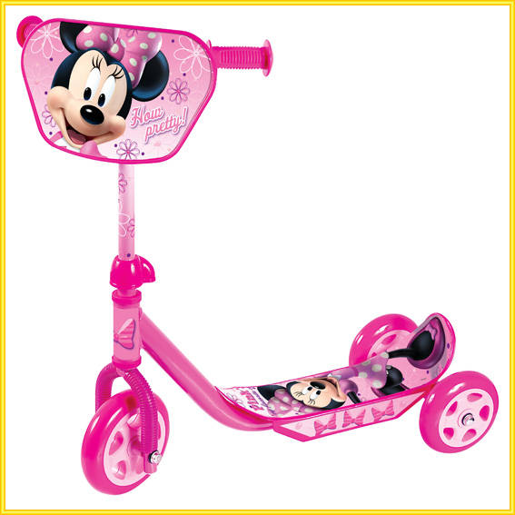 minnie mouse minni maus kinder scooter tretroller roller. Black Bedroom Furniture Sets. Home Design Ideas