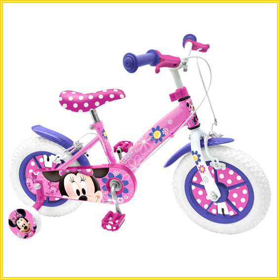 minnie mouse kinderfahrrad 12 zoll kinder fahrrad. Black Bedroom Furniture Sets. Home Design Ideas