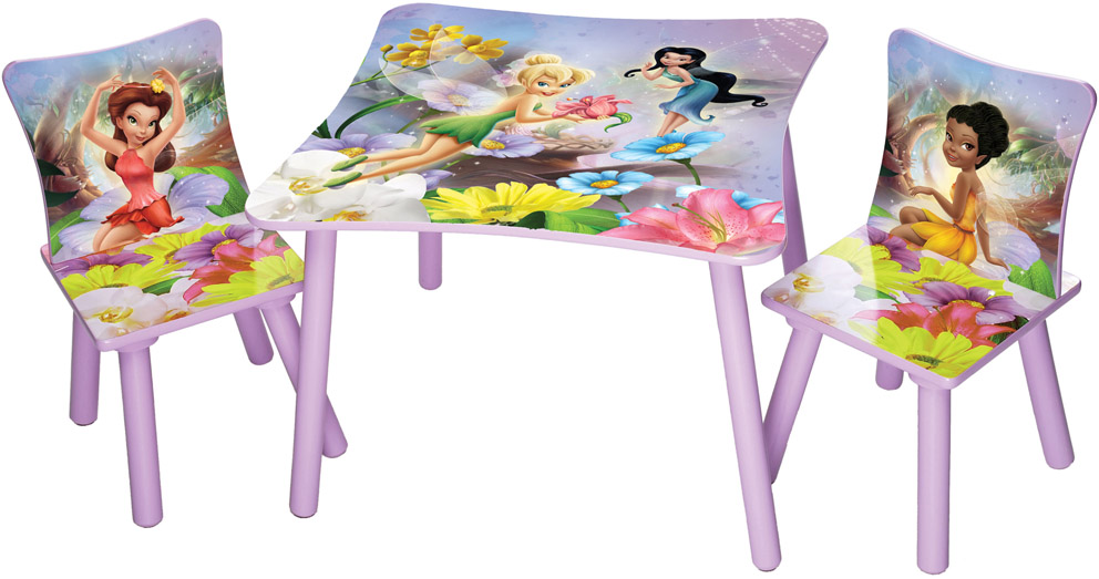 disney fairies sitzgruppe 1 tisch 2 st hle m bel. Black Bedroom Furniture Sets. Home Design Ideas